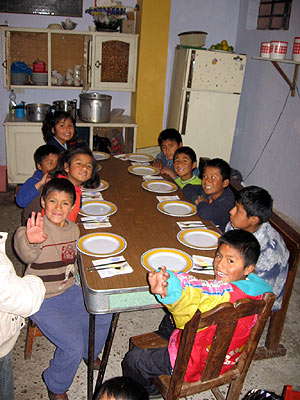 Filled the kitchen at the orphanage with all they lacked