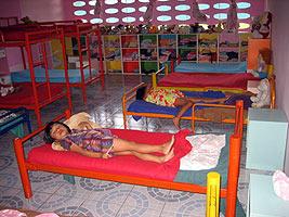 Children at an orphanage in Thailand