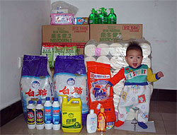 Supplies for orphans at China Care