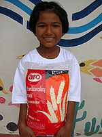 Rice for orphans in Thailand