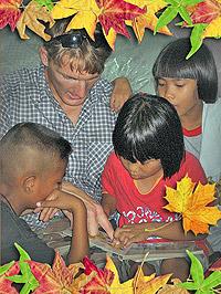 Art, Casey, Nok and Sai in Thailand