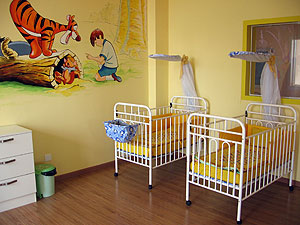 New Hope Foundation furnished room.