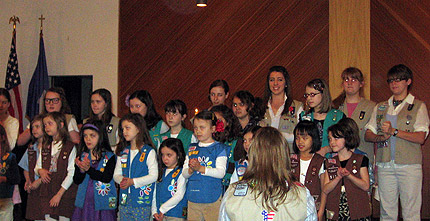 Girl Scouts at Panzer Chapel