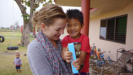 Kristah and Lucas Kitchen visited Mercy International homes in Thailand