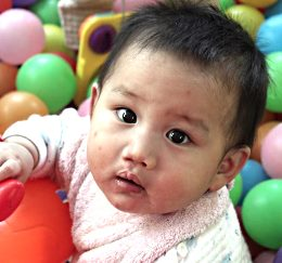 Child cared for by the New Hope Foundation, China