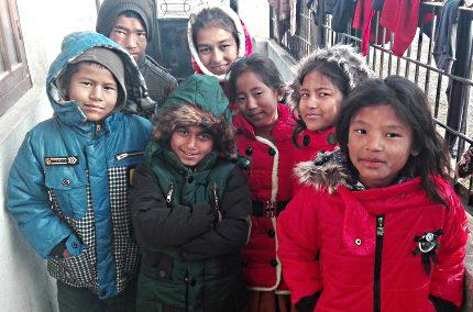 Children at Faith Children's Home, Nepal
